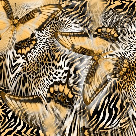 Foto de butterfly snake zebra skin  background - Imagen libre de derechos