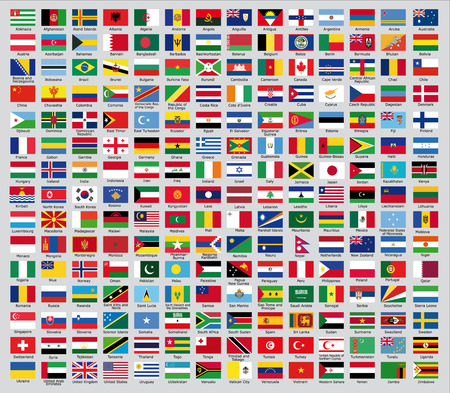 Illustration pour Official country flags - image libre de droit