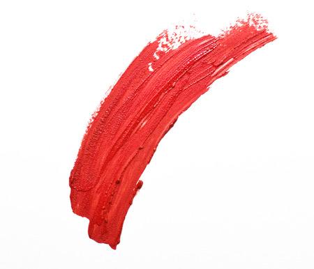 Photo pour red lipstick stroke isolated - image libre de droit