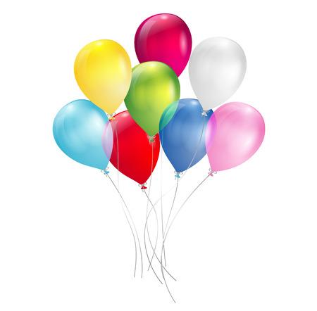 Illustration pour multicolored balloons - image libre de droit