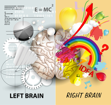 Illustration pour Left and Right brain functions - image libre de droit