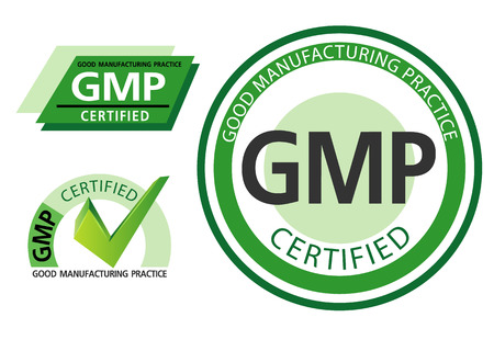 Illustration for Good manufacturing practice, GMP - Royalty Free Image