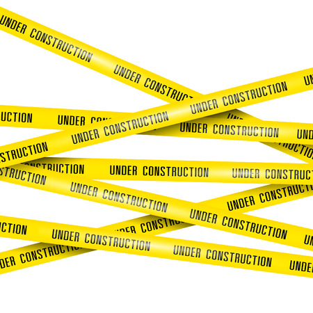 Photo for under construction ribbons - Royalty Free Image