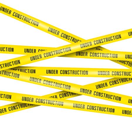 Illustration pour under construction ribbons - image libre de droit