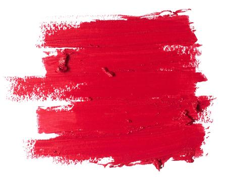Photo pour red lipstick texture - image libre de droit