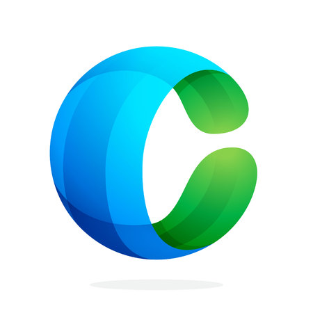 Ilustración de Letter volume colorful concept. Vector design template elements for your application or corporate identity. - Imagen libre de derechos