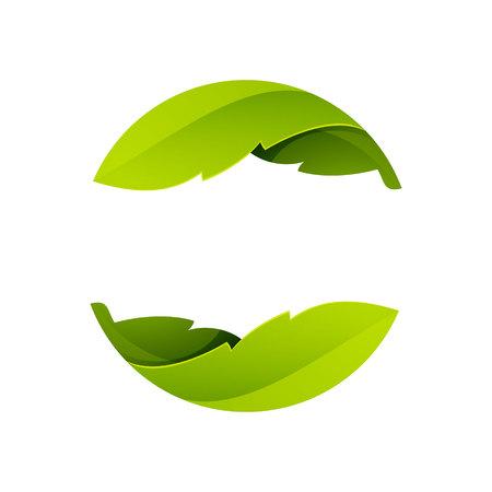 Ilustración de Yin yang, volume colorful concept. Vector design template elements for your application or corporate identity. - Imagen libre de derechos