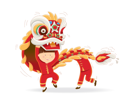 Illustration pour Happy Chinese New Year isolated on a white background - image libre de droit