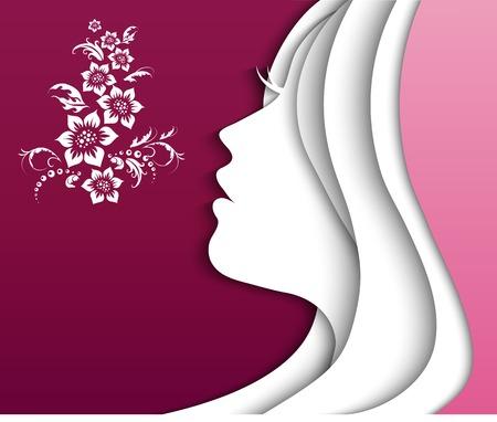 Illustration pour beautiful girl head. vector - image libre de droit