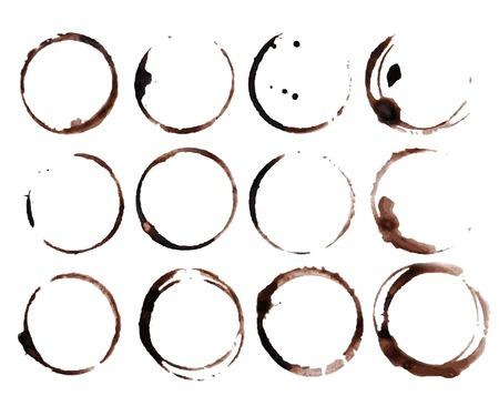 Ilustración de Coffee Stain Rings Vector - Imagen libre de derechos