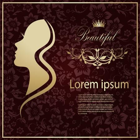 Illustration pour Vector illustration of Woman's silhouette with beautiful hair - image libre de droit