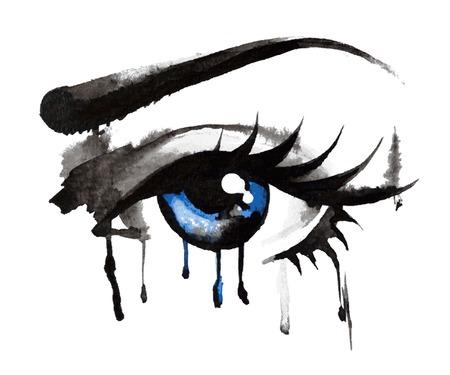 Illustration pour Eyes Hand Drawn - image libre de droit