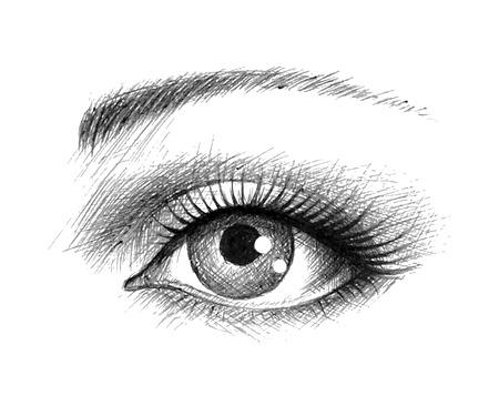 Illustration pour Human eye - vector illustration - image libre de droit