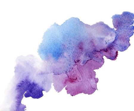 Illustrazione per Abstract watercolor splash. Watercolor drop. - Immagini Royalty Free