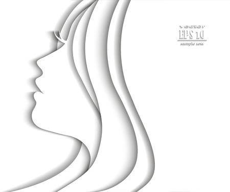 Illustration pour Woman profile beauty illustration vector - image libre de droit