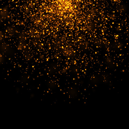 Photo pour gold glittering bokeh stars dust - image libre de droit
