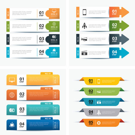 Illustration pour set of infographic templates - image libre de droit