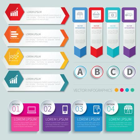 Illustration pour set of infographic templates - image libre de droit