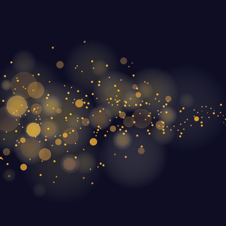 Illustration for vector glittering stars on bokeh background - Royalty Free Image