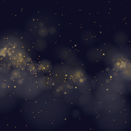 Ilustración de vector glittering stars on bokeh background - Imagen libre de derechos