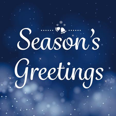 Illustration pour seasons greetings calligraphy card vector design - image libre de droit