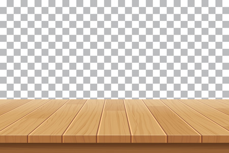Illustration for vector wood table top on isolated background - Royalty Free Image