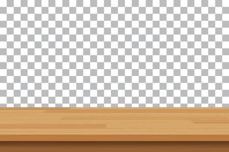 Ilustración de vector wood table top on isolated background - Imagen libre de derechos