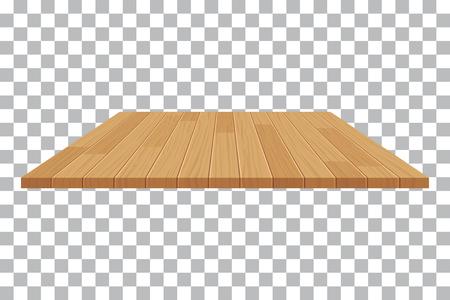 Ilustración de vector wood table top on isolated background - Imagen libre de derechos