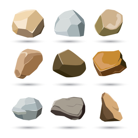 Illustration pour rock and stone set - image libre de droit