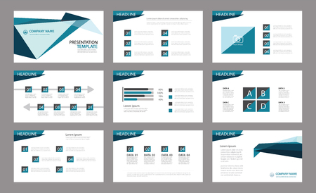 Ilustración de Set of presentation template.Use in annual report, corporate, flyer, marketing - Imagen libre de derechos