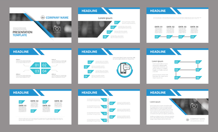 Illustration pour Set of presentation template.Use in annual report, corporate, flyer, marketing - image libre de droit