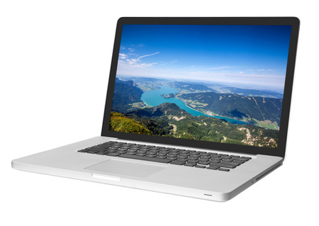 Photo pour modern laptop isolated on white - image libre de droit