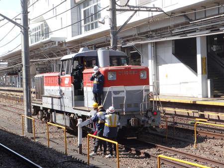 Foto de Diesel locomotive of Japan Railway (JR) - Imagen libre de derechos
