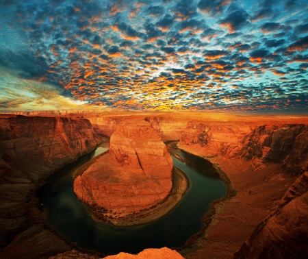 Horse Shoe Bend at Utah, USA