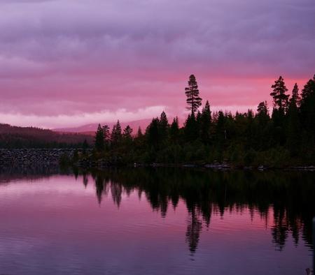 Sunrise scene on lake