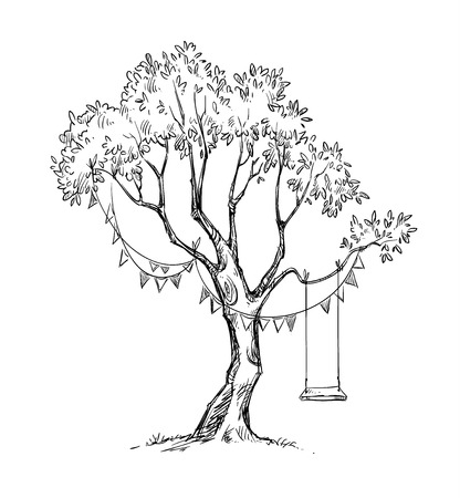 Illustration for Tree and swing. - Royalty Free Image