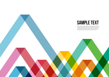 Photo pour Abstract Colorful Triangle Pattern   Background , Cover , Layout , Magazine, Brochure , Poster , Website , Namecard , etc  - image libre de droit