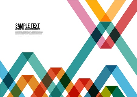 Illustration pour Abstract Colorful Triangle Pattern   Background , Cover , Layout , Magazine, Brochure , Poster , Website , Namecard , etc  - image libre de droit
