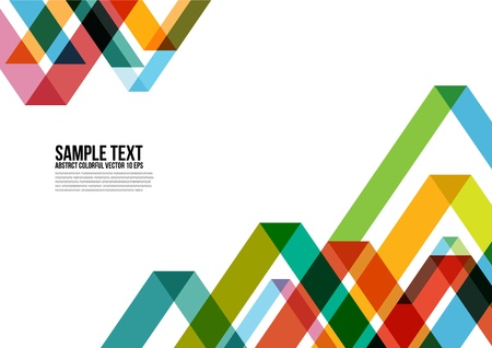 Illustration for Abstract Colorful Triangle Pattern   Background - Royalty Free Image