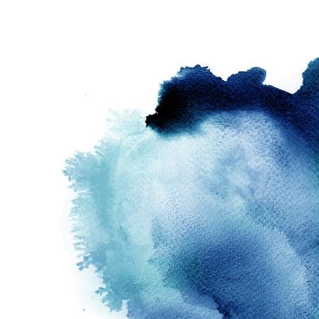 blue watercolor splash