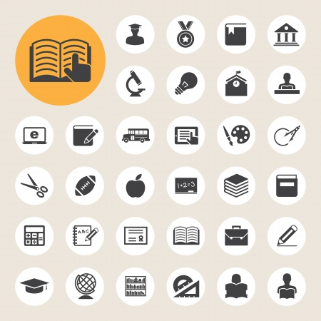 Illustration pour Education icons set. Illustration eps 10 - image libre de droit