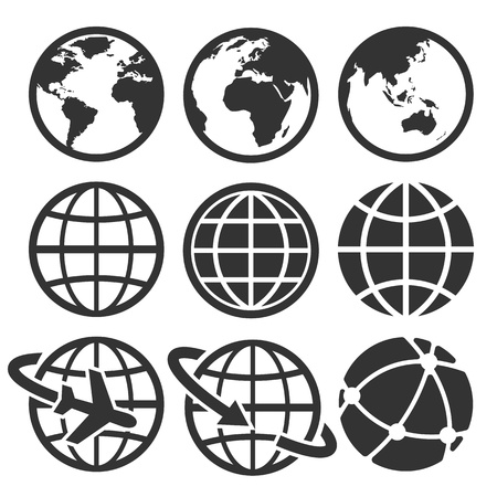 Illustration for Earth icons set. Credit - Royalty Free Image