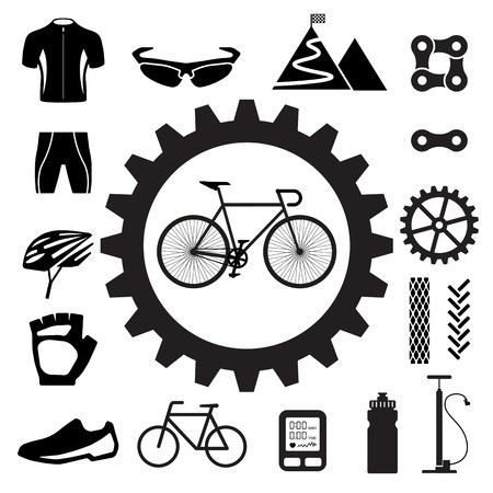 Bicycle icons set,illustration