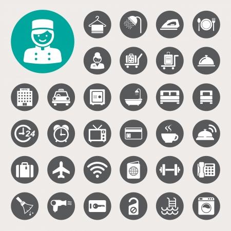 Illustration for Hotel and travel icon set,Illustration  - Royalty Free Image