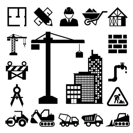Illustration pour Construction Icons set. - image libre de droit
