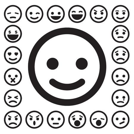 Illustration pour Smiley faces icons set. - image libre de droit