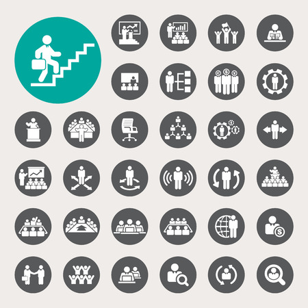 Ilustración de Business and Management Icons set - Imagen libre de derechos