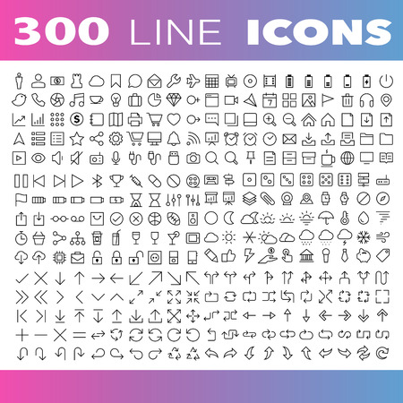 Illustration for Thin Line Icons set.Illustration eps10 - Royalty Free Image