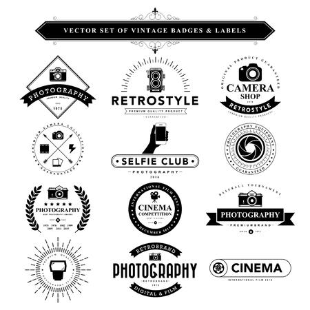 Illustration for Set of black vintage badges and labels.Vector eps10 - Royalty Free Image