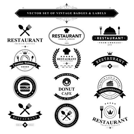 Ilustración de Set of black vintage badges and labels.Vector eps10 - Imagen libre de derechos